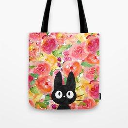 Jiji in Bloom Tote Bag