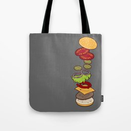 cheeseburger exploded Tote Bag