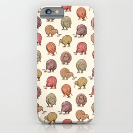 Hungry Kiwis – Warm Earth Tones iPhone Case