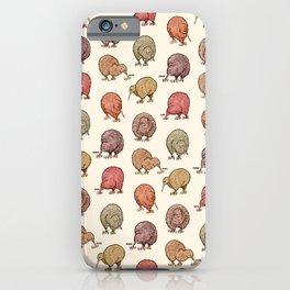Hungry Kiwis – Warm Earth Tones iPhone Case