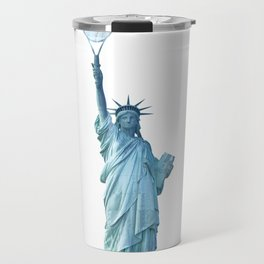 Statue of Liberty with Tennis Racquet Travel Mug