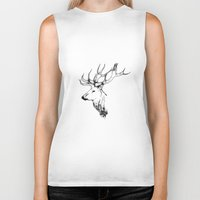 stag Biker Tanks featuring stag by oslacrimale