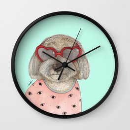 Heart eyeglasses Wall Clock