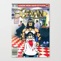 conan Canvas Prints featuring CONAN THE BARBERER by i live