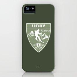 Ski Libby Montana iPhone Case