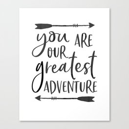 """Printable Art """" You Are Our Greatest Adventure"""" Nursery Art Nursery Prints Nursery Print Canvas Print"""