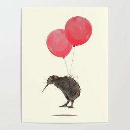 Kiwi Bird Can Fly Poster