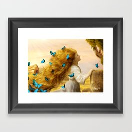 Unfurling Glory Framed Art Print
