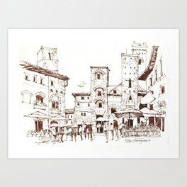 San Gimignano 1 Art Print