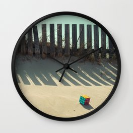 Rubik shading in the beach Wall Clock