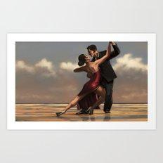 ancora tango Art Print