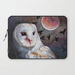 Owl Of The Blood Moon Heart Laptop Sleeve