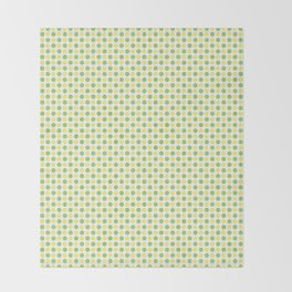 Yellow Lemon Green Fruit Pattern Throw Blanket