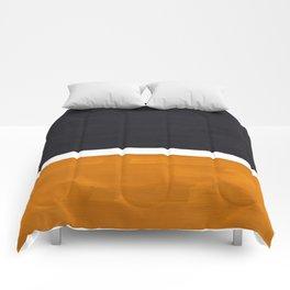Black Yellow Ochre Rothko Minimalist Mid Century Abstract Color Field Squares Comforters