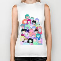 it crowd Biker Tanks featuring Crowd #2  by Milly Scarlett