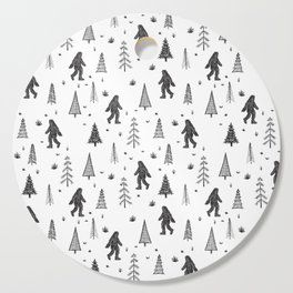trees + yeti pattern Cutting Board