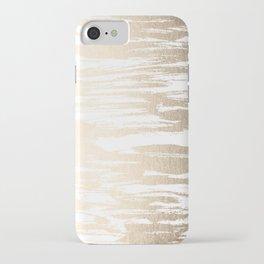 White Gold Sands Paintbrush iPhone Case