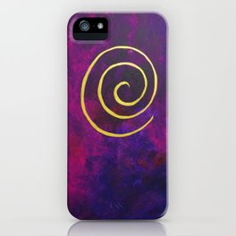 Philip Bowman Infinity Deep Purple And Gold Abstract Modern Art Painting iPhone Case