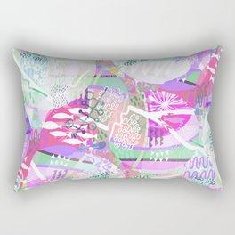 Modern abstract pastel green pink violet geometrical pattern Rectangular Pillow
