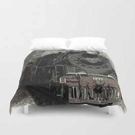 Vintage Train Duvet Cover