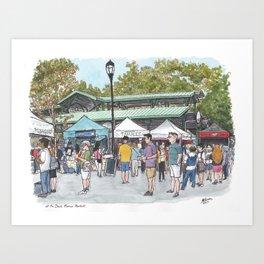 Davis Farmers Market Art Print
