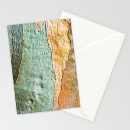 Eucalyptus Tree Bark Wood Abstract Colorful Texture Macro Stationery Cards