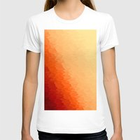 orange pattern T-shirts featuring Orange Ombre by SimplyChic