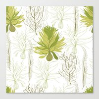 green pattern Canvas Prints featuring Green pattern  by LOLIA-LOVA