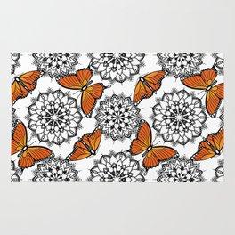 Butterflies and mandalas 1 Rug
