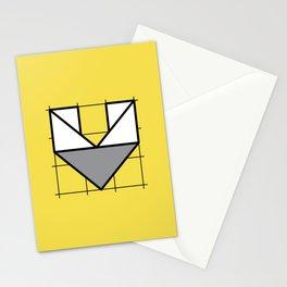 V // Perfectionist Alphabet (Pantone Illuminating + Ultimate Gray) Stationery Cards