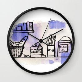 Food ingredients Wall Clock