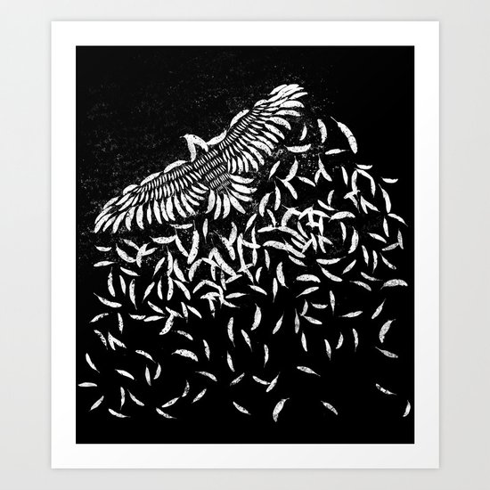Of a feather Art Print