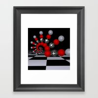 red white black -1- Framed Art Print