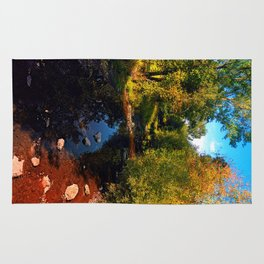 River scene at the end of summer Rug