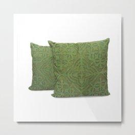 Handmade Cutwork Pillow Cover Metal Print