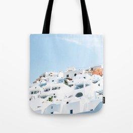 Lost in Santorini Greece Tote Bag