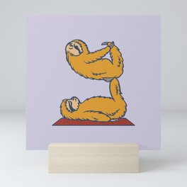 Acroyoga Sloth Mini Art Print