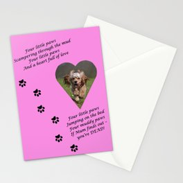 Four More Little Paws Stationery Cards