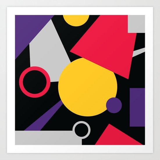 Geometric cocktail Art Print