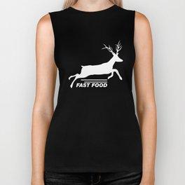 Fast Food Deer - Funny Anti Vegan Hunting Biker Tank