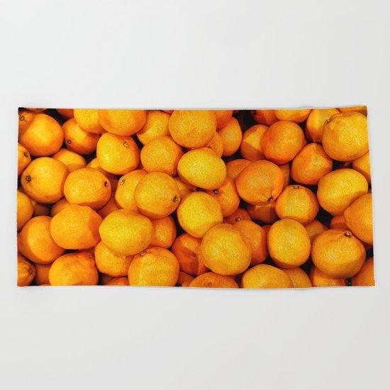 Mandarin, tangerine Beach Towel