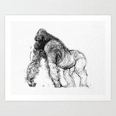 gorilla_001 Art Print
