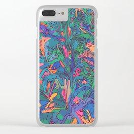 Neon color lavenders Clear iPhone Case