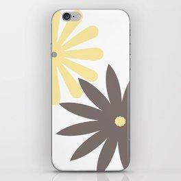 Yellow, Grey and Dark Taupe Pattern 4 iPhone Skin