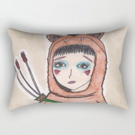 The lonely hunter Rectangular Pillow