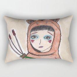 The lonely hunter Rectangular Pillow