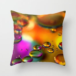 """""""Floating Droplets"""" Throw Pillow"""