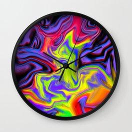 Colour hallucination Wall Clock