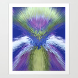 At The Speed of Blue Art Print