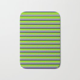 Green Stripes of Spring Bath Mat